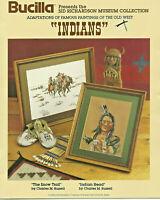 Charles Russell Old West Art Indians Counted Cross Stitch Pattern Leaflet