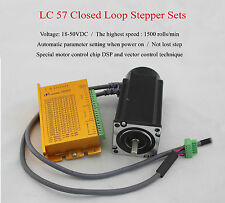 3 Phase 57 NEMA23 3N.m Hybrid Closed Loop Stepper Motor and Driver Kit 1500rpm