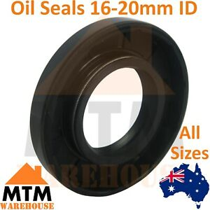 Oil Seal 16-20mm ID Many Sizes Double Twin Lip Spring TC Motor Gearbox