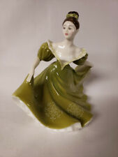 New ListingVintage 1970 Royal Doulton H.N. 2329 Lynne Fig. Dancing Young Lady Green