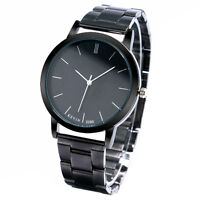 KEVIN Casual Mens Womens New Stainless Steel Quartz Wrist Watch Black/White Face