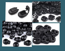 Kordelstopper, Kordelendstücke, schwarz, blau, Stopper, Endstücke, mehrere Ausf.