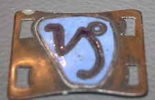 ART DECO ERA  Abstract enamel on copper handcrafted shoe  buckle 4 x 3 cm