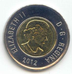 Canada 2012 Toonie Two Dollar Coin Canadian $2 UNC Exact Coin Polar Bear