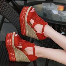 Women's Summer Peep Toe Wedge Heels Platform Tassel Casual Sandals Shoes Hot