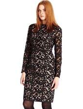 "BNWT "" Coast "" Size 18 Harlem Lace Black /beige Dress (46 EU)Cocktail, Party New"