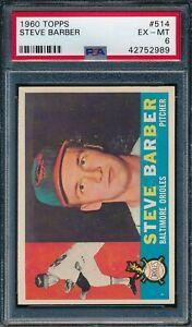 1960 Topps Set Break # 514 Steve Barber PSA 6 *OBGcards*