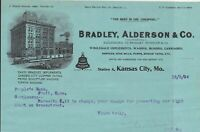 U.S. Bradley, Alderson & Co. 1904 Kansas City Mo.  Illustrated Receipt Ref 41369