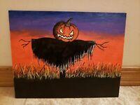 Original Folk Art Handmade Halloween Painting
