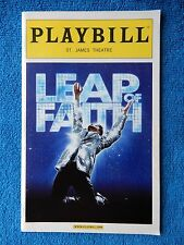 Leap Of Faith - St. James Theatre Playbill - Opening Night - April 26th, 2012