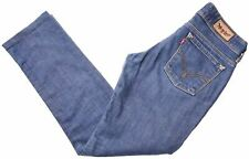 LEVI'S Womens 571 Low Waist Jeans W28 L27 Blue Cotton Slim Fit  IW03