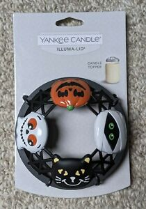 Yankee Candle ILLUMA-LID CANDLE TOPPER 14.5 and 22 oz JARS - HALLOWEEN FRIENDS