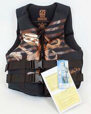 New $100 RARE Jetpilot Young Guns Teen Life Vest Jacket Youth Boys Black Brown