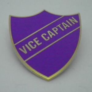 Vice Captain Enamel School Shield Badge - Purple