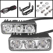 2pcs 9W White 7000K High Power 3-LED Car SUV Daytime Running Lamp DRL Fog Light