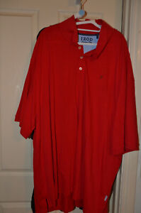BNWOT IZOD cotton blend polo shirt 6x red