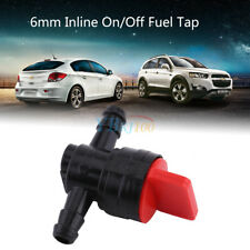 1pc Universal Car Plastic 6mm Inline On/off Fuel Tap Valve Petcock Pipe Hose DY