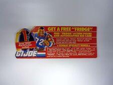 GI JOE GET A FREE FRIDGE ORDER FORM Vintage Action Figure Promo COMPLETE 1986