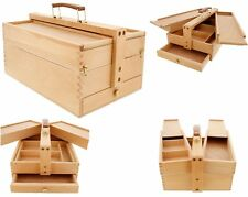Large Wooden Tool Box Chest Slide Drawer Storage Drow Multi Tray Cabinet Garage
