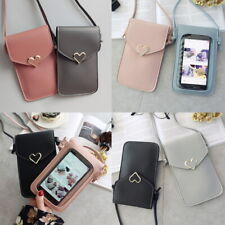 Ladies Leather Cross-body Shoulder Bag Touch Screen Phone Handbag Mini Purse US.