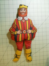 "Vintage Promotional Original 13"" THE BURGER KING Stuffed Doll 1970s Rag Cloth"
