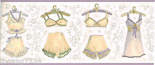 Lavender Purple Women Lingerie Undies Slips French Knickers Wall paper Border