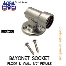 "BROMIC 1/2"" FEMALE GAS BAYONET FLOOR & WALL SOCKET FOR BBQ AND SPACE HEATERS"