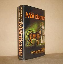 THE MANTICORE Robertson Davies 1st edition 1st printing HC/DJ 1972