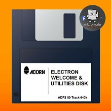 Acorn Electron Plus 3 ADFS 3.5 Welcome & Utilities Floppy Disk - 80 Track