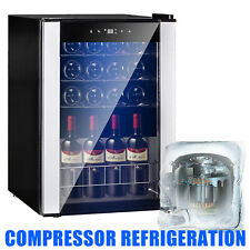 19 Bottles Wine Cooler Compressor Fridge Chiller Cellar w/Metal Shelf Glass Door