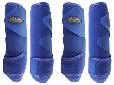 Professional Equine Medium 4-Pack Sports Medicine Splint Boots Blue 41Blc