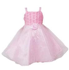 Vestido Niña de Fiesta Rosa Blanco 12 18 24 Meses 2 3 4 Años