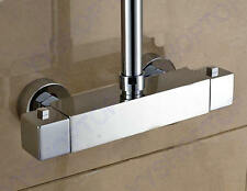 """Chrome Square Thermostatic Bar Mixer Shower Exposed Valve  3/4"""" BSP  Top Outlet"""