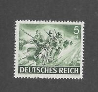 MNH stamp / 1943 /  PF05 + PF04 / Motorcycle  Infantry  / WWII Third Reich Army