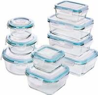 [18-Piece] Glass Food Storage Containers with Lids - Glass Meal Prep Containers