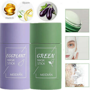 1-3Green Tea Cleansing Solid Mask Stick Acne Cleansing Oil Control Moisturizing~