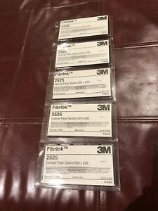 Lot Of 5 Packs 3M 2525 Fibrlok Optical Fiber Splice