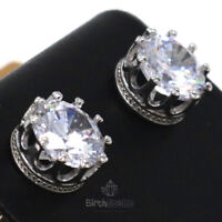 Sparkling Round Cubic Zirconia Earring Women Jewelry 14K White Gold Plated