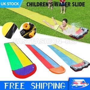 EXTRA LARGE OUTDOOR WATER SLIDE SLIP GARDEN BACKYARD SINGE/DOUBLE KIDS TOY GAME
