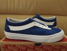 Vans Bold Ni (Staple) Men's Shoes Size 12 True Blue White Suede VN0A3WLPULD NEW