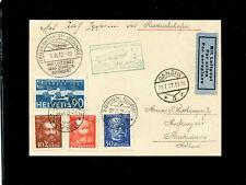 Zeppelin Sieger 170B 1932 Luposta Switzerland Treaty Ruckfahrt SLH ZF 172E