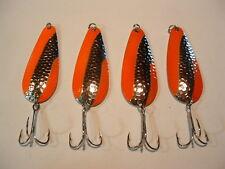 4 Eagle Bay HMRD ORANGE Fishing Lures 3/8 oz Pike Muskie Trout Salmon USA MADE