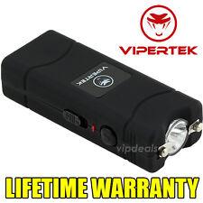 VIPERTEK BLACK VTS-881 500 MV Micro Rechargeable LED Police Stun Gun Taser Case