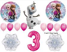 FROZEN PINK 3RD BIRTHDAY PARTY BALLOONS Decorations Supplies Disney Snowflake