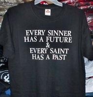CHRISTIAN T-SHIRTS  Sinner T-shirt Black T-shirt Short Sleeve