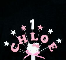 Hello Kitty personalised birthday, christening  cake topper, cake decoration
