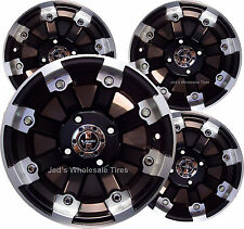 """4) 12"""" Rims Wheels for 2002-2009 Yamaha Grizzly 660 w/ IRS 393 MBML Aluminum"""