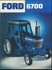 Ford 6700 Tractor Sales Brochure / Literature