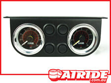 AIR RIDE SUSPENSION AIR BAG ELECTRIC GAUGE FOR HOT ROD, CUSTOM, HILUX ,RODEO