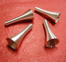 10pc bright silver metal horn style finding-1680B